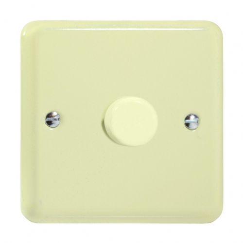 Varilight JYP401.WC Lily Pastel White Chocolate 1 Gang 2-Way Push-On/Off LED Dimmer 0-120W V-Pro